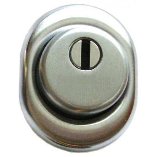 Szyld atestowany do drzwi DIERRE srebrny (N/31 mm)